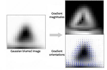 SIFT descriptor gradients